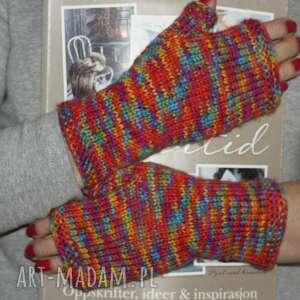 handmade rękawiczki kolorowe