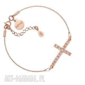 bransoletka z krzyżem wysadzanym swarovski® crystal, regulowana