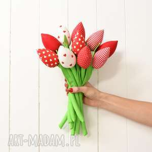 Prezent Bukiet tulipanów, walentynki, bukiet, prezent, kwiaty, tulipany-z-materiału