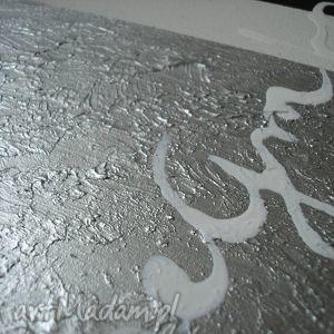 aleobrazy awangarda wenge silver - 130x70cm, obraz, płótnie, wenge, srebrny