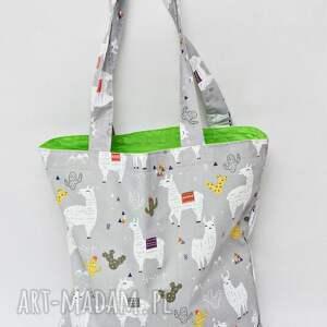 hand made torba na zakupy shopperka ekologiczna zakupowa ramię eko siatka bawełniana