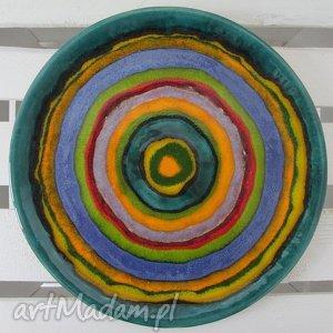 full color talerz dekoracyjny - ,patera,ceramiczna,dekoracyjna,kolorowa,parapetówka,