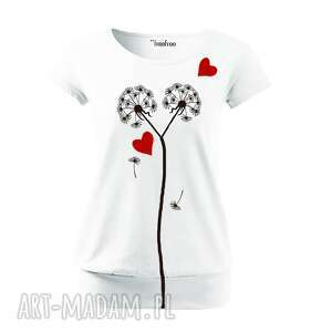bluzki bawełniana bluzka z ręcznym malunkiem, bluzka, serca, koszulka, bawełna