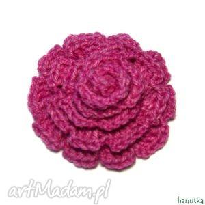 josephine - broszka szydełkowa - prezent, kwiat, ozdoba, dekoracja, szydełkowe
