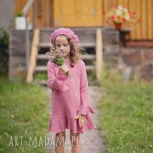 Sukienka Raspberry, sukienka, vintage, muślin, dziewczynka, retro, bawełna