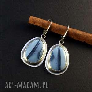 opal i niebo przed burzą, srebro-oksydowane, opal, srebro, metaloplastyka