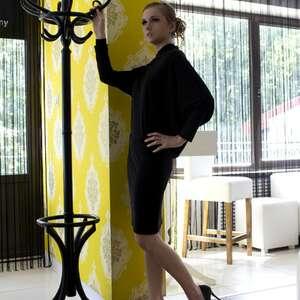 asymetria czarn, rozm 38, sukienka, asymetryczna