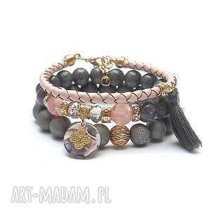 hand-made grey and antique pink vol. 20 /10 -09 -19/set