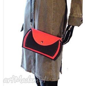 na ramię torebka mała, bardzo poręczna, torby, torebki, filc, kobieta