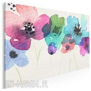 Obraz na płótnie - polne kwiaty 120x80 cm 54601 vaku dsgn kwiaty