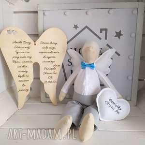 Anioł na pamiątkę chrztu świętego lalki fabryqaprzytulanek