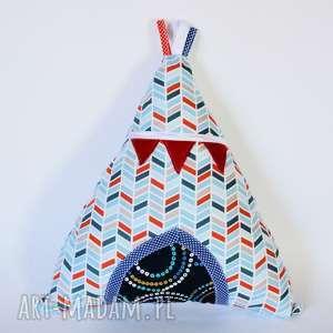 Poduszka - Wigwam / tipi 2 , tipi, poduszka, indianie, boho, chłopczyk, kolorowa