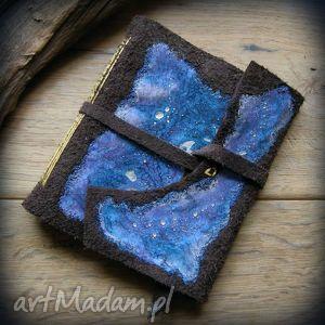 wolfpath studio notes kwadratowy ze skórzaną miękką okładką fioletowa galaktyka