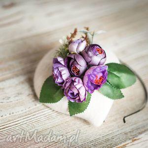 filemonka kwiatowa, fascynator, ecru, ślub, kwiaty, wesele