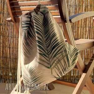 plecak / worek, plecak, palmy, motyw florystyczny, paski, prezent