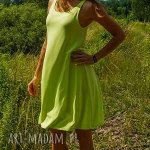 Neon dress, zwiewna-sukienka, na-ramiączkach, pisacjowa-sukienka, lekka-sukienka