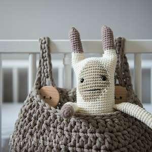 Prezent Organizer na łóżeczko - Kieszeń kangura kosz, rękodzieło, prezent, szydełko