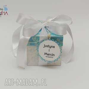 scrapbooking kartki box na ślub z mostkiem, box