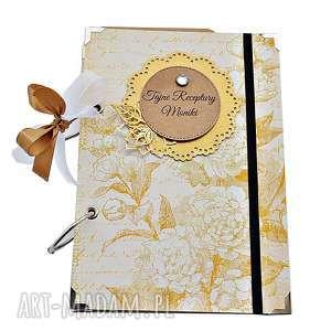 hand-made scrapbooking notesy elegancki przepiśnik - prezent dla babci/mamy