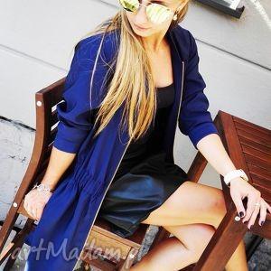 szmizjerka vestito blu - szmizjerka, płaszcz, nakrycie, jesień, zima, parka
