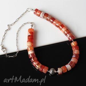 handmade naszyjniki agat karneolowy