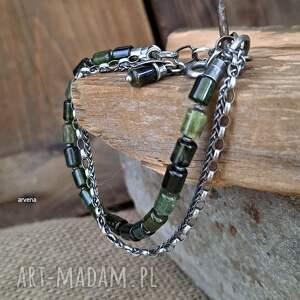 turmaliny zielone - bransoletka 013, turmaliny