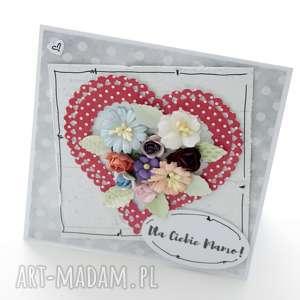 kartka z sercem - prezent