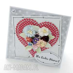 kartka z sercem - kartka, prezent