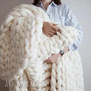 Wełniany koc / pled chunky blanket, koc, pled, wełna, chunkyblanket,