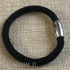 ręcznie wykonane bransoletka czarna z koralików toho