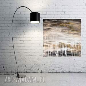 gold rush 2, abstrakcja, nowoczesny obraz ręcznie malowany, obraz