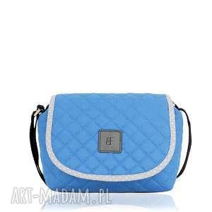 TOREBKA SWEET LOVE 708 NIEBIESKA , pikowana, niebieska, mini, pojemna, lekka
