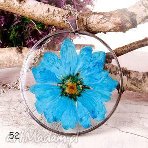 naszyjniki naszyjnik xxl z suszonymi kwiatami terrarium tiffany 52, naszyjnik, duży