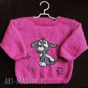 hand made sweterek pieseczek