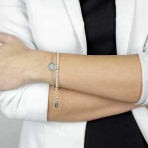 srebrne bransoletki damskie z kamieniami, biżuteria na prezent, kamień