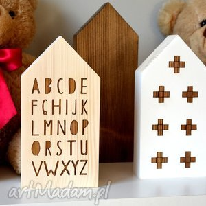 pokoik dziecka domki drewniane, domki, domek, drewniany, drewno, alfabet, plusy