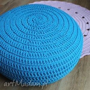 pufy pufa hop blue, pufa, fotel, siedzisko, handmade, bawełna