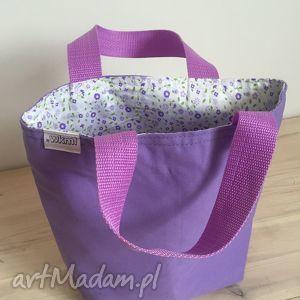 fioletowa łączka, kwiatki, lunch, śniadanie, pudełka, prezent, biura