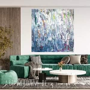 obraz akrylowy ręcznie malowany 100x100, duży obraz, nowoczesny