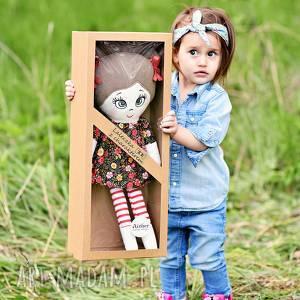 Prezent Lalka szmacianka Frania (opis pudełko), lalka-szmacianka, lalka-na-prezent