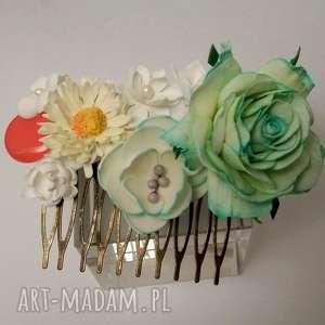 hand made dla dziecka komplet mamy i córki grzebyk opaska z elastycznej koronki wraz