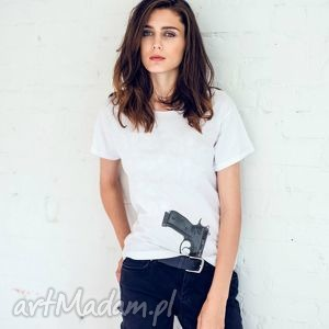 gun girl oversize t-shirt, koszulki ubrania