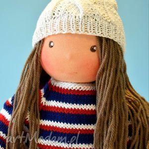 Lalka waldorfska Basia - ,maskotka,buciki,sweterek,miś,dla,lalka,