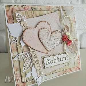 kartki kartka dla ukochanej, kocham, walentynki, miłość, prezent, upominek