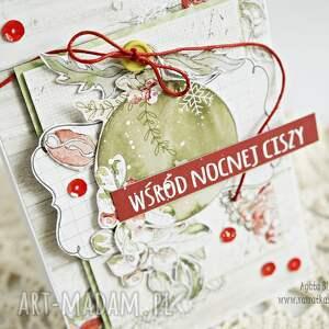 z bombką - kartka świąteczna - boże-narodzenie, kartka-świąteczna