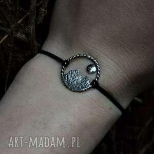srebrna bransoletka z górami, górska biżuteria, góry