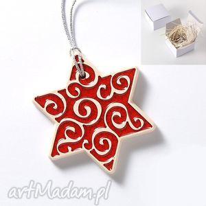 pomysły na upominki świąteczne gwiazdka zawieszka, czerwona, gwiazdka, święta