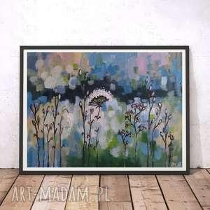 ABSTRAKCYJNA ŁĄKA VII - obraz akrylowy formatu 20/30 cm, obraz, łąka, akryl,