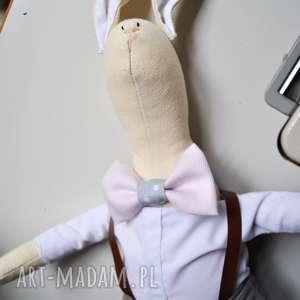 pan królik, przytulanka, chrzest, prezent, dla, dziewczynki, urodziny