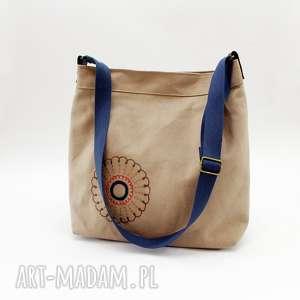 hand made torebki bawełniana z haftem